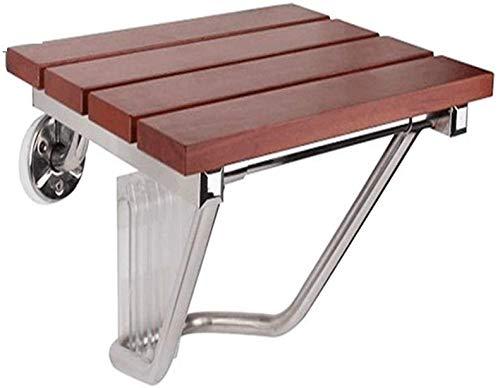ZXL Opvouwbare douchekruk, inklapbaar anti-slip roestvrij stalen houder massief houten plaat badkamer douchekruk sterk draagvermogen (maat: # 1)