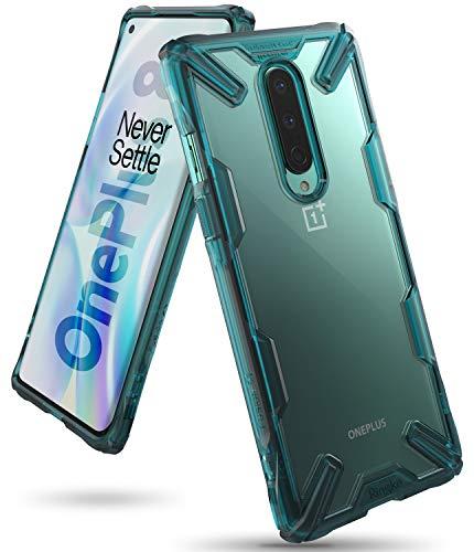 Ringke Fusion-X fürs OnePlus 8 Hülle, Transparent Rückseite Renovierter TPU Rahmen Bumper Stoßfänger Doppelter Schutz Case für OnePlus 8 - Turquoise Green