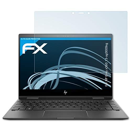 atFolix Schutzfolie kompatibel mit HP Envy x360 13-ag0009ng Folie, ultraklare FX Bildschirmschutzfolie (2X)