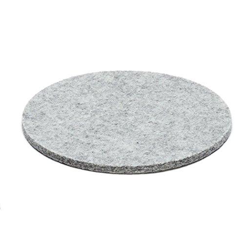 ESTA-Design Filz Topfuntersetzer Untersetzer Glasuntersetzer rund Woll Filz 5mm hell grau meliert (Ø 20 cm)