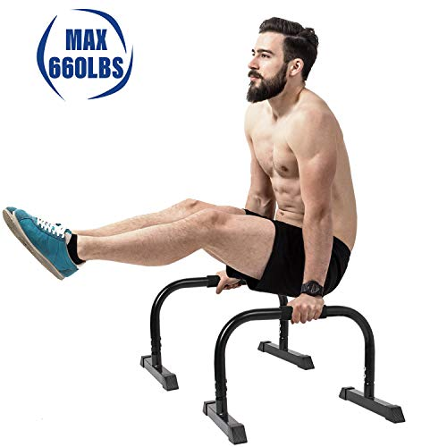 Product Image 4: 5BILLION XL Push Up Stands Parallettes Dip Bars with Non-Slip Foam Handle & Rubber Feet Workout for Handstand Muscle Ups Push Ups Home & Gym Training