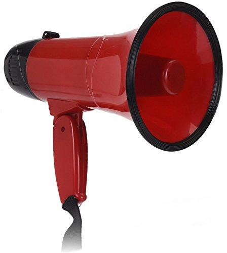 Megafon mit 2 Funktionen 23x14 cm - Megaphon mit Sirene - Bullhorn Sprachrohr