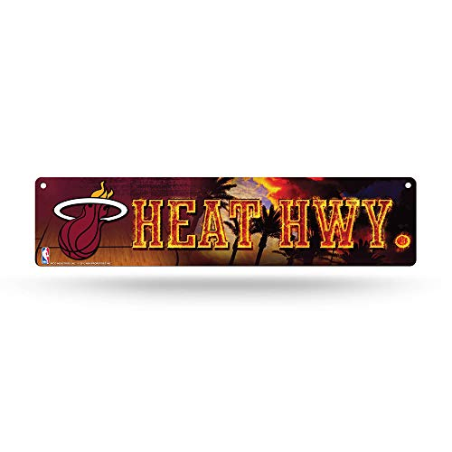 NBA Rico Industries 16-Inch Plastic Street Sign Décor, Miami Heat
