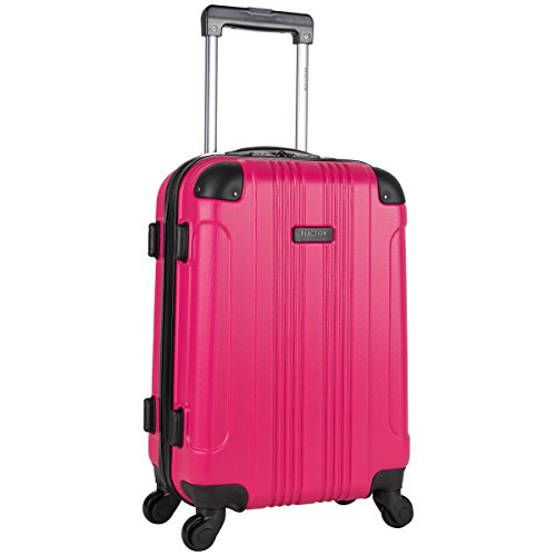 KENNETH COLE REACTION Out Of Bounds 20-Inch Carry-On Lightweight Durable Hardshell 4-Wheel Spinner Cabin Size Luggage, Magenta
