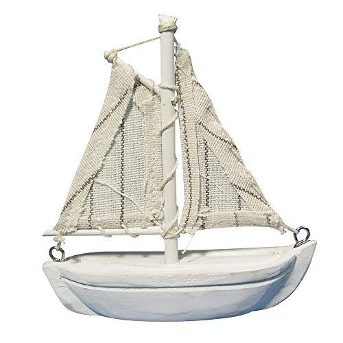 Rayher 8606500 Segelboot aus Polyresin, Rumpflänge 7,5 cm, Höhe mit Mast ca. 8,5 cm, perfekt für maritime Dekorationen