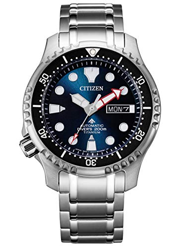 Citizen Promaster Automatic Diver Herrenuhr Titan Dunkelblau NY0100-50M