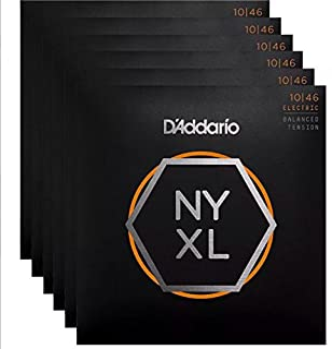 D`Addario NYXL Electric Guitar Strings Balanced Lite 10-46 6 Sets