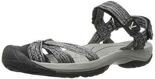 KEEN Women's Bali Strap Sandal, Neutral Gray/Black, 8.5 M US
