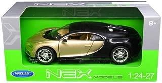 Welly 24077GLD/BK Bugatti Chiron Gold / Black 1/24 - 1/27 Diecast Model Car