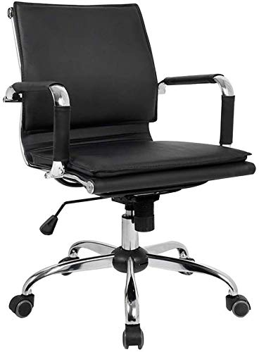 WGFGXQ Computer Chair Task Swivel Executive Computer Chair Height Adjustable Ergonomic PU Leather Office Chair with Recline Function Swivel Gaming Chair for Office Meeting Room
