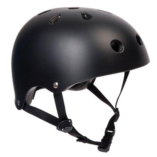 PedalPro Matt Black BMX Bike/Skate Helmet - Medium