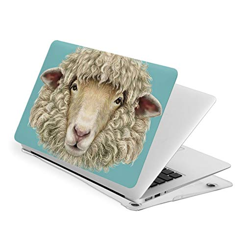 MacBook Air 13 Inch Case Portrait of Sheep Goat Head Fit A1369 A1466 Laptop Slim Hard Shell Plastic Protective Cover