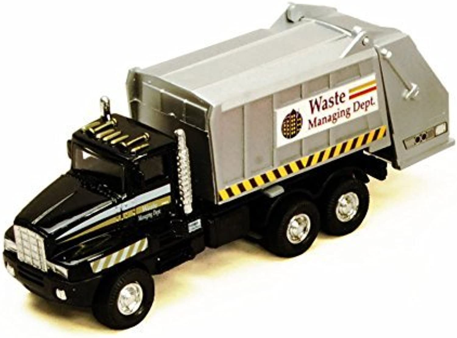 Garbage Truck, Black  Showcasts 9911DG  6 Inch Scale Diecast Model Replica by Showcasts