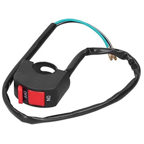 Luz de manillar ENCENDIDO APAGADO, Interruptor de faros de manillar Interruptor de manillar universal Interruptor de arranque Llave de encendido para tractor para motocicletas