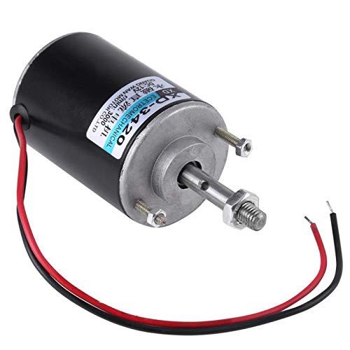 Motor de CC de imán permanente, Motor eléctrico de generador de bricolaje, Motor de CC de imán permanente CW/CCW de alta velocidad de 12 / 24V 30W para generador de bricolaje(12V 3500rpm)