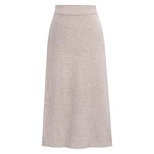 N\P Otoño Invierno De Punto De Las Mujeres Falda De Tamaño Grande Elástico Cintura Faldas