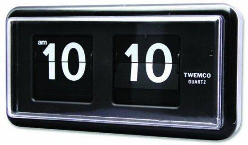 TWEMCO (トゥエンコ) 掛け時計 置き時計 兼用 QT-30 Black