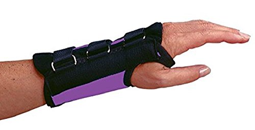 Rolyan D-Ring Left Wrist Brace 6.5 Regular Length Support Size Small Fits Wrists 5.75-6.5 Black Brace with Straps and D-Ring Connectors to Secure and Stabilize Hands and Wrists