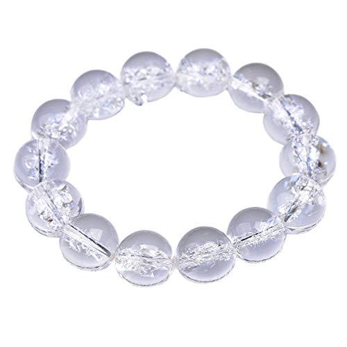 Healifty White Crystal Bracelet Selenite Heart Charging Crystal Dangle Charms Pendant Birthstone Bracelet for Women