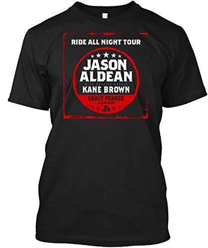 Jason aldean ride all night tour 2019 T-shirt Customized Handmade