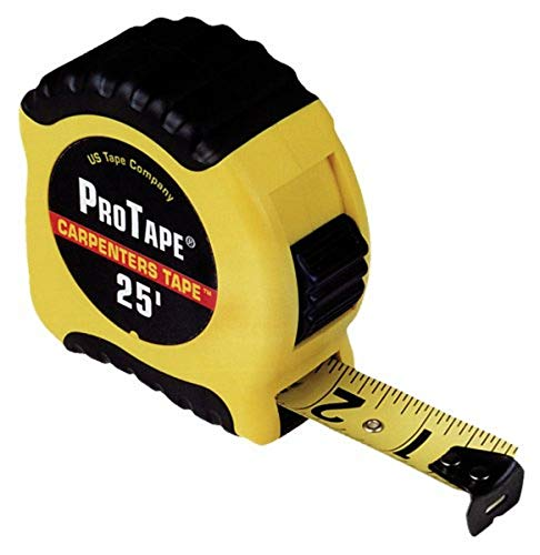 """ProTape Carpenter 25' Large Read - 1"""" 52725 by US Tape"""