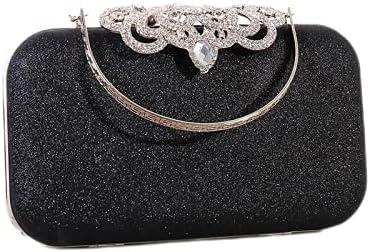 JINGXU Women's Retro Rhinestone Dress Hand Holding Evening Bag Handbag