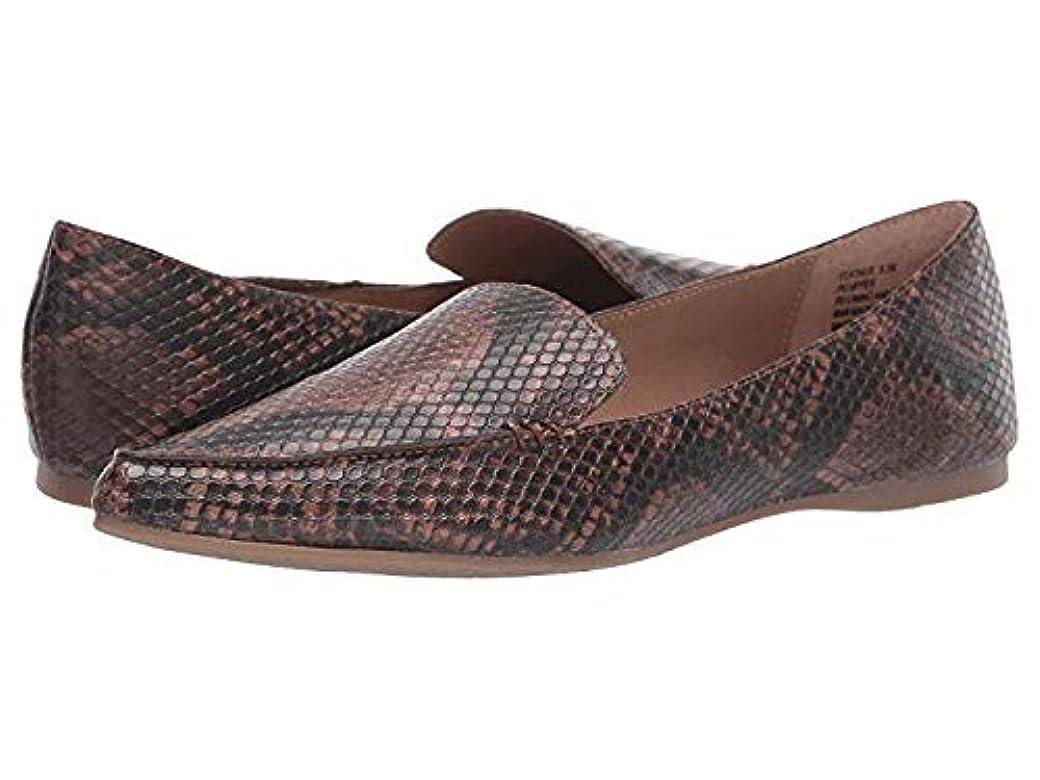 憂慮すべきパーティションペダルレディースローファー?靴 Feather Brown Snake (25cm) M [並行輸入品]