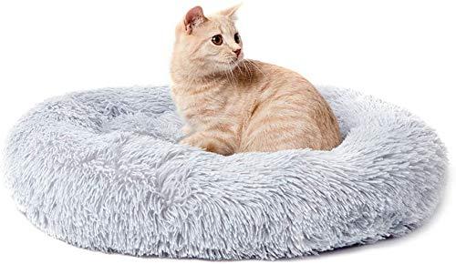 Hundebett Haustier Schlafplatz Katzenbett Weiches Welpenbett Warmes Hundekissen Katzenkissen Donut Hundedecke Hundeschlafplatz Waschbares Baumwollbett Haustierbett für Mittlere/Große Hunde Katze