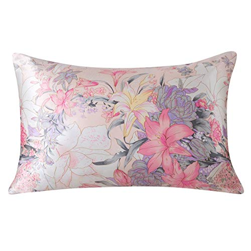 SLPBABY Silk Pillowcase for Hair and Skin with Hidden Zipper Print (Queen, Pattern15)
