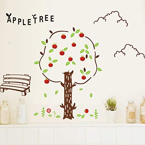 Cartoon Apple Boom Muursticker voor Kinderen Babykamer Woonkamer Slaapbank Achtergrond Kwekerij Decoratie Muurschildering Stickers
