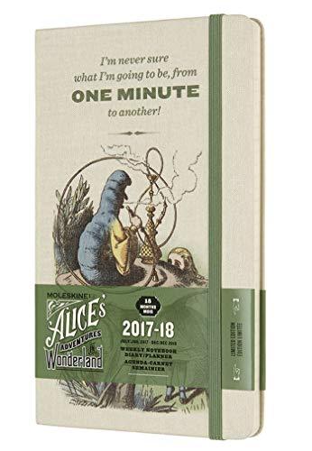 Moleskine 2017-2018 Agenda Settimanale Alice con Spazio per Note, 18 Mesi, Large, Bianco Mandorla