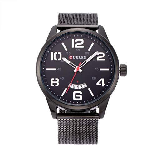 xisnhis schöne Uhren curren8236 große dial Digitale Stahl gürtel auf Kalender männer gucken