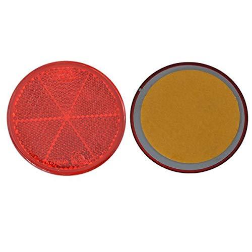 FKAnhängerteile 8 x Spot – Réflecteur arrière – Coller – Ø 60 mm – Rouge – E de marque de contrôle