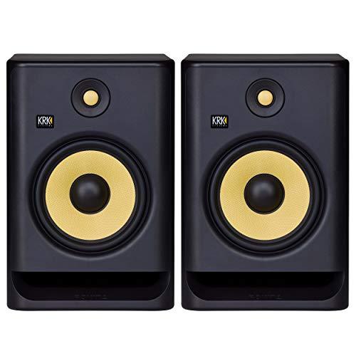 "KRK RP8 Rokit 8 G4 Professional Bi-Amp 8"" Powered Studio Monitor Pair, Black"