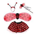 Toyvian Disfraz de Abeja para Niños de 4 Piezas con Bumble Bee Wings Diadema de Abeja Set de Varita de Hadas