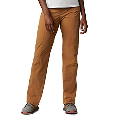 Columbia Women's Just Right Straight Leg Pant, Water & Stain Resistant, Light Elk, 10 Regular