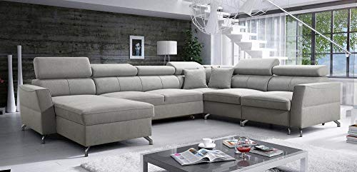 all4all Ecksofa Vedis VII Wohnlandschaft Couch Polstersofa Sofa mit Bettkasten Schalffunktion Links Rechts 26 (Links)