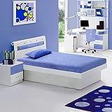 Irvine Home Collection M7Blue Kids 6' Gel Memory Foam Size Mattress   CertiPUR-US Certified   Medium Firm Sleep Experience   Twin   Blue   FREE MATCHING PILLOW