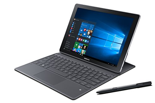 Samsung Galaxy Book 30,4 cm (12 Zoll) Tablet-PC (Intel Core i5, 4GB RAM, 128GB SSD, Windows 10 Home) schwarz/silber (italienische Tastatur)