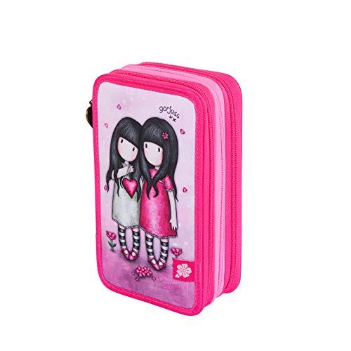 Santoro M057a, Astuccio scolastico, unisex, per bambini, 205 x 125 x 65 mm Rosa Size: 205x125x65 mm