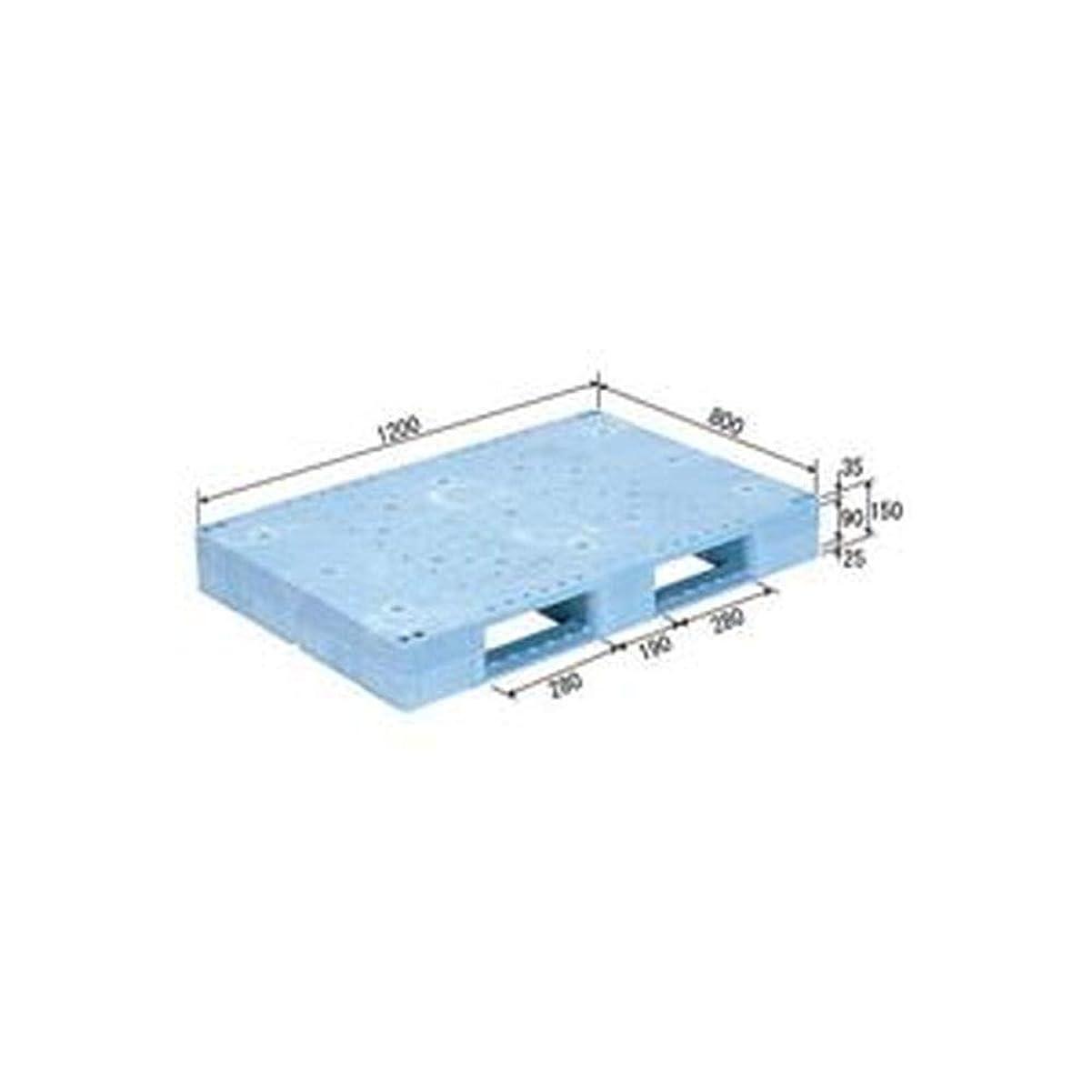 授業料担当者モスク三甲 - サンコー - / プラスチックパレット/プラパレ / - 片面使用型 - / 突起無 / D2-812F / ライトブルー - 青 - - -
