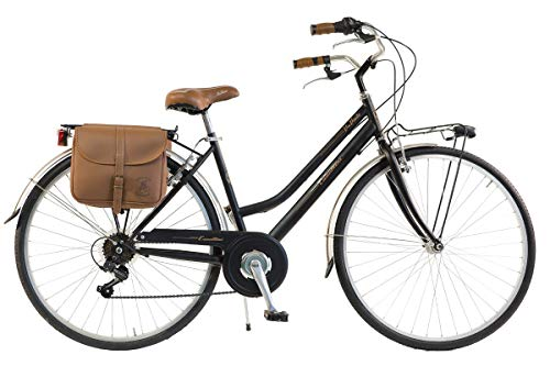 Via Veneto By Canellini Fahrrad Rad Citybike CTB Frau Vintage Retro Via Veneto Stahl (Schwarz, 46)