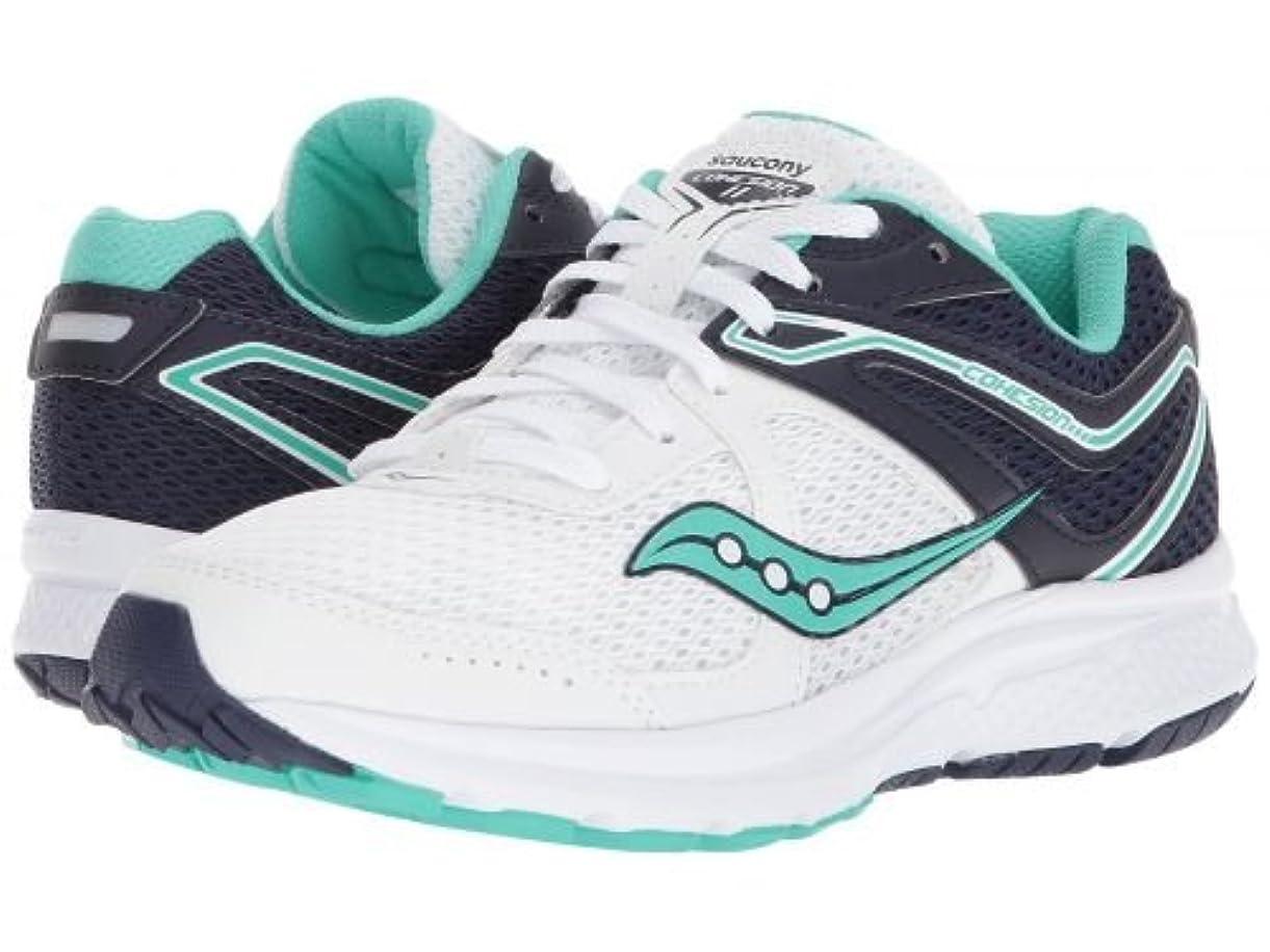 特にモールス信号一緒にSaucony(サッカニー) レディース 女性用 シューズ 靴 スニーカー 運動靴 Cohesion 11 - White/Navy/Teal 8.5 B - Medium [並行輸入品]