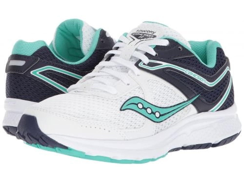Saucony(サッカニー) レディース 女性用 シューズ 靴 スニーカー 運動靴 Cohesion 11 - White/Navy/Teal 10 B - Medium [並行輸入品]