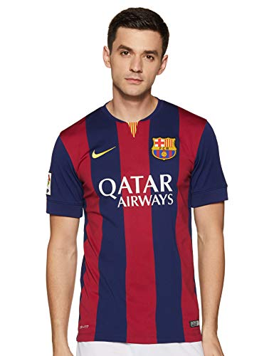 Nike Fútbol Club Barcelona (FCB) Local 2014/2015 - Camiseta de fútbol para hombre, color azul, talla S