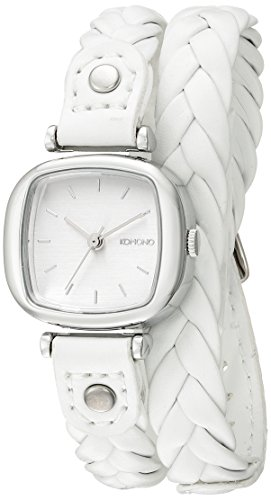 KOMONO Women's KOM-W1230 Moneypenny Woven Series Analog Display Japanese Quartz White Watch