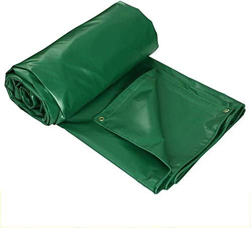 FFJD Lona Verde para Sol Y Lluvia/PVC Grueso De Alta Resistencia Impermeable Ideal para Toldo Toldo Carpa Barco RV O Piscina Grueso 0,4 Mm Peso 440 G/M²-Los 6M X 5M