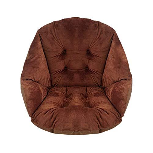 HB.YE Coussin de Chaise avec Dossier siège Coquille Fauteuil Velours Douillet Elastique Impermeable pour Chaise en Rotin Paille Jardin Marron 40 * 40 * 48cm