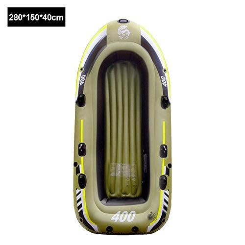ANG Inflatable Kayak, Inflatable Boat, Sport Kayak Canoe Boat, PVC Inflatable Rafting Fishing Dinghy Tender Pontoon Boat Rafting Rubber Boat, Kayak Canoe Fishing, for 2/3/4 Person