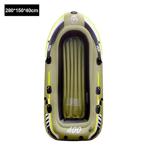 N/P Classic2/3/4 Person Inflatable Rubber Boat Foldable PVC Kayak for Fishing,Dinghy Float for Boating Fishing Hunting Or Playing On Lakes Rivers and White Water Rapids